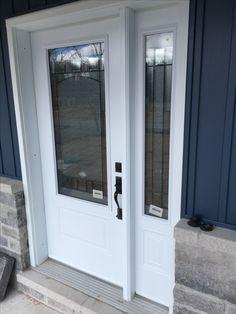 Steel entry door w/ Bistro lites. Entry Doors, Windows, Steel, Front Doors, Steel Grades, Window, Entrance Doors, Ramen