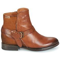 Bootsit nilkkurit ruskeat nahkaa Pikolinos Brown - kengät Naiset 144,00 €