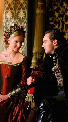 King HenryVIII and his third wife Jane Seymour celebrating Christmas at court, a scene from #TheTudors