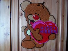Hugs + Kisses Love hama perler beads by Shazann