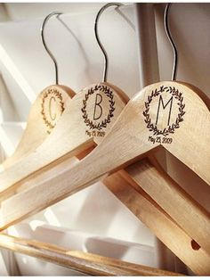 Looking for the perfect bridesmaid gift? We   Custom engrave wood hangers to give your bridal party the perfect personalized wedding memento. http://etsy.me/2pebCUf