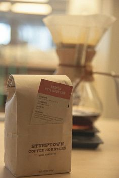 Stumptown coffee packaging
