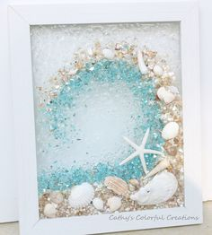 excited catcher crushed window beach shell resin glass decor share ocean shop etsy from item Excited to share this item from my shop Ocean Wave Ocean Wave Window Crushed Glass Wave Resin WYou can find Shell art and more on our website Seashell Art, Seashell Crafts, Beach Crafts, Starfish, Crafts With Seashells, Seashell Projects, Mermaid Crafts, Driftwood Projects, Driftwood Art