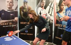 The Duchess of Cambridge, known for being sporty, got stuck into a game of table tennis at...
