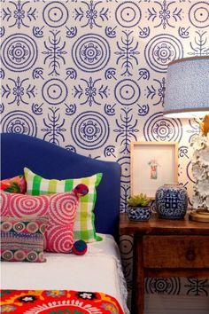 Déco éclectique #motif #couleur #chambre