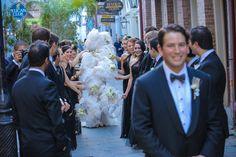 1920's Inspired Glamorous Celebration on Borrowed & Blue.  Photo Credit: Dennis Kwan Weddings