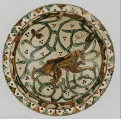 Cup with hare motif, Aghkand district, Zanjan province, Iran, 12th-13th century