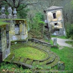 The Monster Park (Sacred Grove) at Bomarzo-Italy  60 miles northwest of Rome