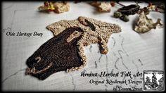In My Hoop ~ ©2016 Olde Heritage Sheep ~ Doreen Frost, Vermont Harvest Folk Art