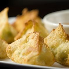 Jalapeno Cream Cheese Wontons. Think jalapeno popper in a crispy wonton wrapper, little bites of cream cheese bliss.