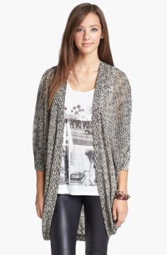 Love the Painted Threads Oversized Sheer Knit Cardigan (Juniors) on Wantering.
