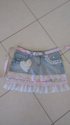 Shabby apron made from denim