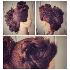 When there is a little time one can work on updo's ❤️ Love My Job, Updos, Dreadlocks, Rose, Hair Styles, Amazing, Fun, Beauty, Up Dos
