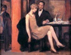 V Kavarne, Hugo Boettinger, Art Gallery, Praha, Roaring Twenties in Art Roaring Twenties, The Twenties, Birmingham Museum Of Art, Art Fund, Most Famous Artists, Great North, The Great Gatsby, African American Art, Love Images