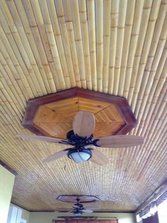 Bamboo ceiling.