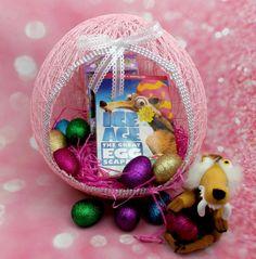 Easter Egg Balloon Yarn Basket DIY