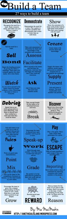 Build A Team - 27 Ways To Build A team - #infographic