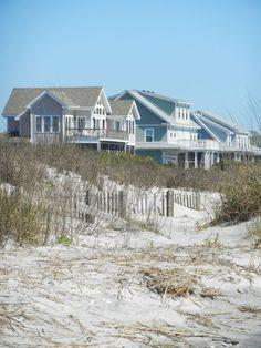 East Side beach houses in Folly Beach, South Carolina Beach Cottage Style, Coastal Cottage, Coastal Homes, Beach House Decor, Coastal Style, Coastal Living, Beach Homes, Nantucket Style, House By The Sea