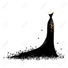 lady dress silhouette - Google Search