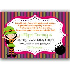 Cute Little Witch Halloween Birthday Party by PartiesR4Fun on Etsy