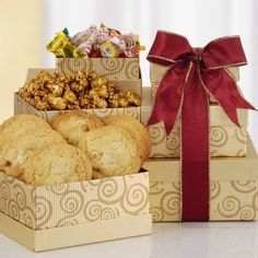 Solid Gold Cookie Gift Tower ^^ Remarkable product available now. : Gift Baskets