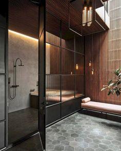 59 Marvelous Open Bathroom Concept For Master Bedrooms Decor Ideas - Page 37 of 56 Open Bathroom, Bathroom Red, Bathroom Interior, Bathroom Ideas, Black Bathrooms, Cozy Bathroom, Bathroom Vanities, Bathroom Styling, Bathroom Renovations