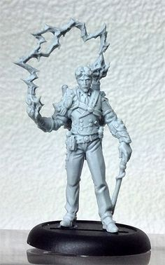 Nikola Tesla, the first Kickstarter Exclusive Miniature. More Teslas are needed than any other model - 850 casts in all!