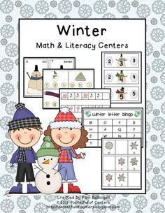 Winter Math & Literacy Centers $5.00