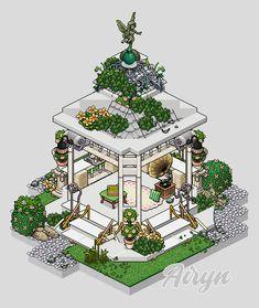 Isometric Art, Isometric Design, Habbo Hotel, Minecraft House Designs, Cute House, House Drawing, Kawaii Art, Types Of Art, Bird Art