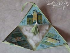 Pyramidenbox mit Häuser (Stempelset Aus dem Häuschen Stampin' Up!)  #pyramid #christmas  http://kreativstanz.bastelblogs.de/ Kreativstanz – Stampin' Up!