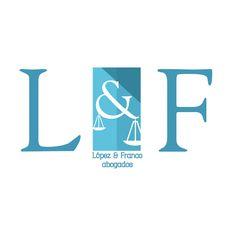 Diseño de logotipo para López&Franco abogados, realizado por Cinco Cocos #cincococos #diseño #imagencorporativa #design #logo #logotipo