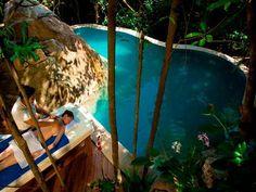 Poolside spa treatment at Santhiya Resort & Spa, Koh Phangan