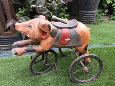 Antique pig pedal trike in Antiques, Other Antiques   eBay