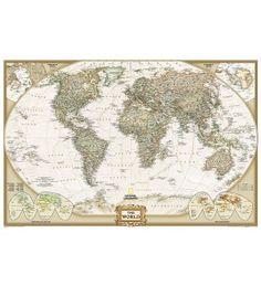 World Executive Wall Map, Poster Size, laminated  http://store.mapsofworld.com/wall-maps/world-maps-1-2-3