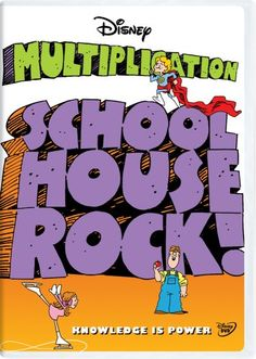 Schoolhouse Rock: Multiplication Classroom Edition [Interactive DVD] Disney Ed… Learning Multiplication Tables, Multiplication Songs, Maths, Math Songs, Math For Kids, Fun Math, Math Activities, Easy Math, Math Resources