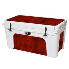 MightySkins Protective Vinyl Skin Decal for YETI Tundra 75 qt Cooler wrap cover sticker skins Cherry Wood * More info could be found at the image url.(This is an Amazon affiliate link and I receive a commission for the sales)