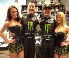 Samantha Busch, Kyle Busch, Kurt Busch, & Patricia Driscoll.  Great pic of the brothers.  Like Kurt too.