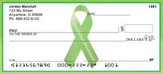 Lymphoma Awareness Ribbon Show your support for Lymphoma Awareness with these bold and unique personal checks that display the signature ribbon for this worthwhile cause. $12.99 / box