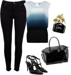 """Ombré and Valentino *sigh*"" by csallsazar on Polyvore"