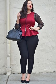Girl With Curves: Layer Trick omg this is so my style love it Curvy Outfits, Plus Size Outfits, Trendy Outfits, Fashion Outfits, Womens Fashion, Look Plus Size, Plus Size Girls, Plus Size Model, Curvy Girl Fashion
