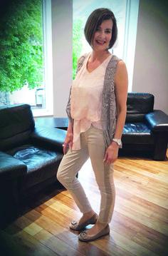 Outfit der Woche! Hose, Bluse & Fransenweste: Marc Aurel #fashion www.mensing.com