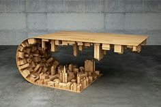 """inception"" coffee table"