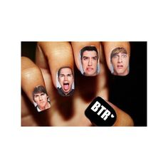 nails BTR ❤ liked on Polyvore