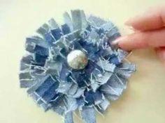 DIY Tutorial: flowers / SHABBY CHIC DENIM FLOWERS - Bead&Cord