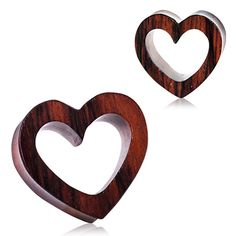 Organic Sono Wood Heart Tunnel Plug-Organic Sono Wood Heart Tunnel Plug Add some femininity to your stretched ears! These unique Organic Wood tunnels are the perfect deviation from the standard Plugs and Flesh Tunnel Body Jewelry. Wood is a durable a Jewelry Stand, Cute Jewelry, Body Jewelry, Jewelry Art, Jewelry Holder, Bohemian Jewelry, Luxury Jewelry, Stone Jewelry, Bridal Jewelry