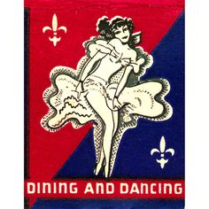 NY Dancers & Show Girls Matchbook Print - 1930s French Casino