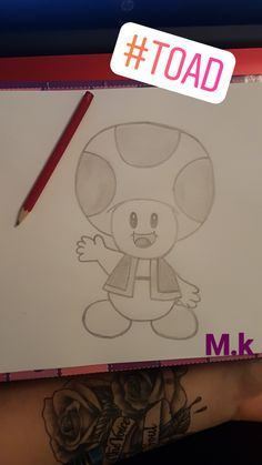 animados Toad von Super Mario Toad from Super Mario Tumblr Drawings, Sketchbook Drawings, Drawing Sketches, Drawing Ideas, Realistic Pencil Drawings, Pencil Art Drawings, Easy Drawings, Disney Kunst, Disney Art