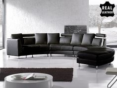 Modern Design Circular Sofa - ROTUNDE black by Beliani