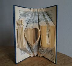Book art i love u-for love ones-made to order от Meiorigami