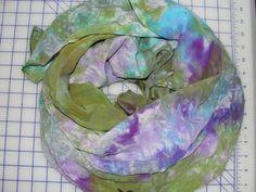"""Dyed Silk, """"Wild Rag"""" by Washoe Kat"""